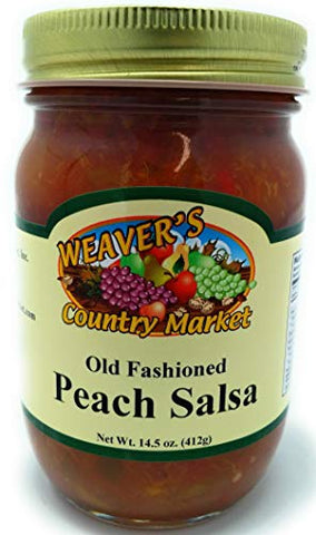 Weaver's Country Market Peach Salsa (12-14.5 Ounce Jars)