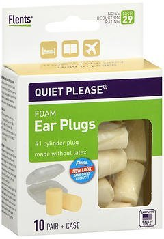 Flents Quiet Please Comfort Foam Ear Plugs - 10 pairs, Pack of 2