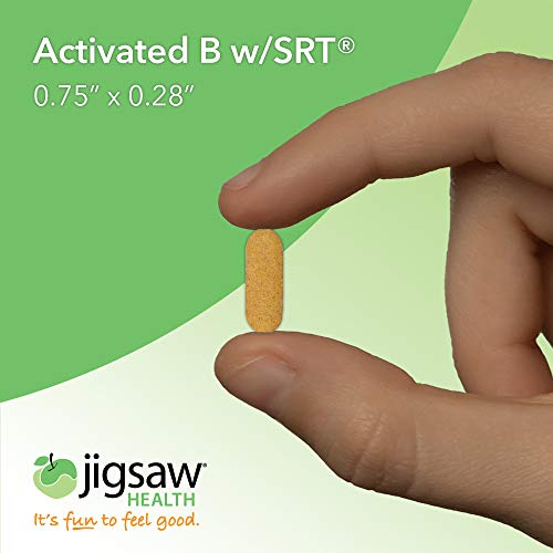 Jigsaw Health Activated B Complex w/SRT - Supports Healthy Energy, Contains B1, B3, B5, B6, B12, and Folate Highly Absorbable - 120 Count