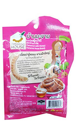 2 Packs of Tamarind with Honey. Selected premium Delicious fruit snack by Tamarind House Brand, Thailand. (60 g./pack)