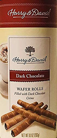 Harry & David Dark Chocolate Wafer Rolls 10 oz