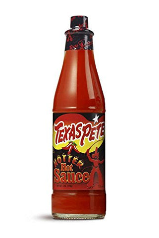 T W Garner New Texas Pete Hotter Hot Sauce, 6 Ounce -- 12 per case.