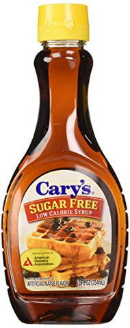 Cary's Sugar Free Syrup, 12-Ounce Bottles (Pack of 12)