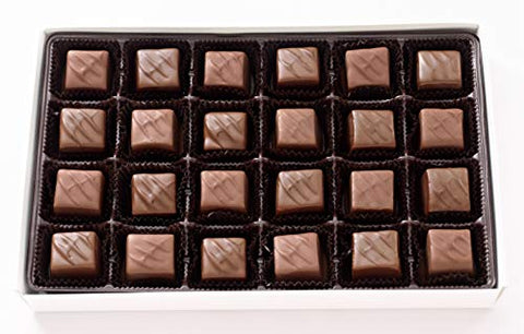Vermont Nut Free Chocolates Boxed Chocolate Caramels (Milk Chocolate) 24-Piece