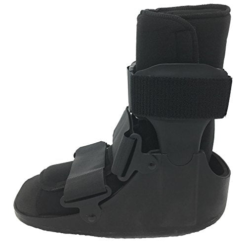 OTC Walker Boot Delux Short Low Top Leg Cast, Black, Medium