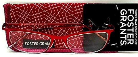 Foster Grant Leighton Wine Reading Glasses w/Soft Case +1.75