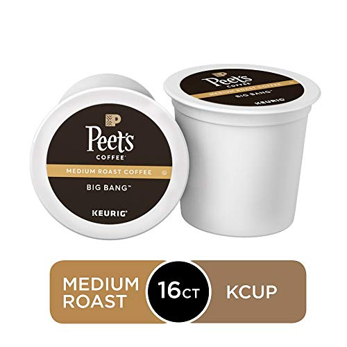 Peet's Coffee Big Bang, Medium Roast, 16 Count Single Serve K-Cup Coffee Pods for Keurig Coffee Maker
