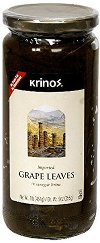 Krinos Imported Grape Leaves, 16 Ounce (1 JAR)