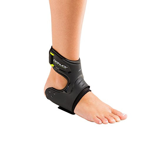 DonJoy Performance POD Ankle Brace, Best Support for Stability, Ankle Sprain, Roll, Strains for Football, Soccer, Basketball, Lacrosse, Volleyball -Large- Right - Black