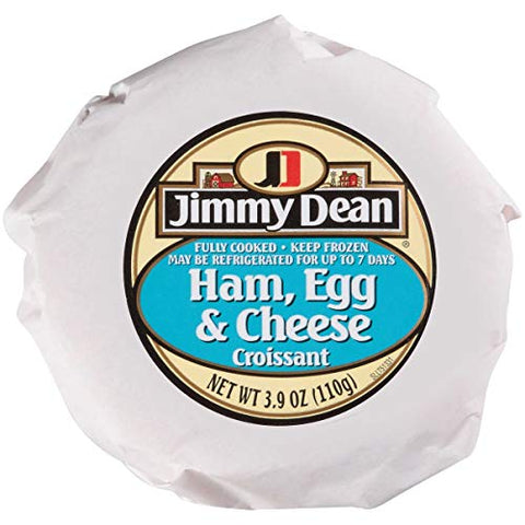 Jimmy Dean Ham Egg and Cheese Croissant Breakfast Sandwich, 3.9 Ounce -- 12 per case.