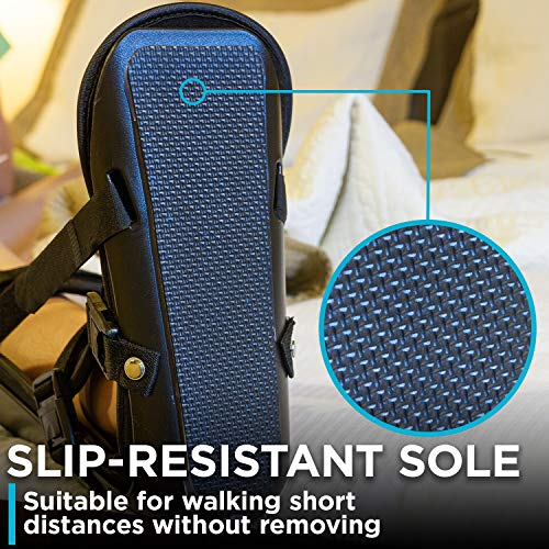 BraceAbility Sleeping Stretch Boot | Plantar Fasciitis Night Foot Splint and Adjustable Achilles Tendonitis Brace for Fascia, Tendon and Calf Stretching, Heel Spur or Arch Pain Treatment (Large)