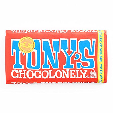 Tony's Chocolonely Milk Chocolate Bar 6 oz each (4 Items Per Order, not per case)