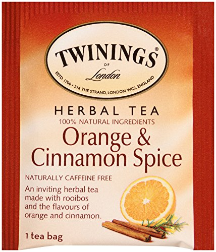 Twinings Of London Orange & Cinnamon Spice Herbal Tea Bags, 20 Count (Pack Of 6)
