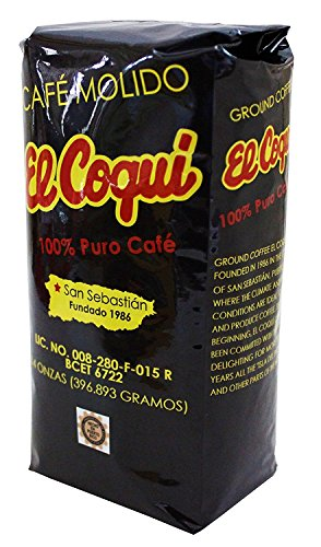 (2 Pack) Puerto Rican Coffee -14 Ounce Bags El Coqui Puro Cafe (28 Ounce Total)