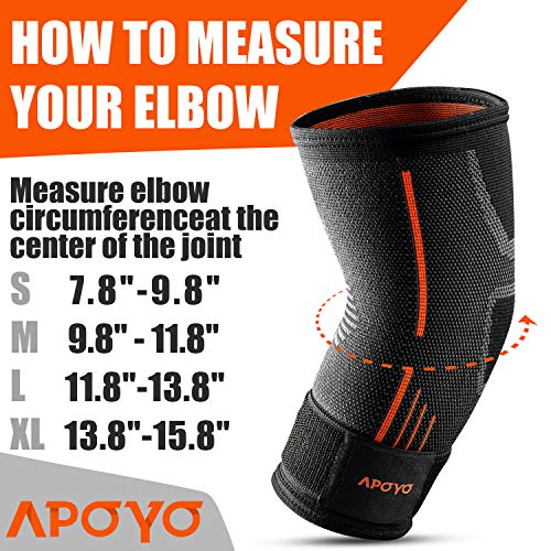 Elbow Compression Sleeve   Elbow Brace For Tendonitis, Tennis Elbow, Golf Elbow, Weightlifting, & Mo