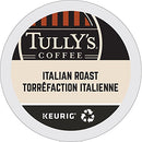Image of Tully's Coffee Italian Dark Roast Keurig Single-Serve K-Cup Pods, Dark Roast Coffee, 24 Count