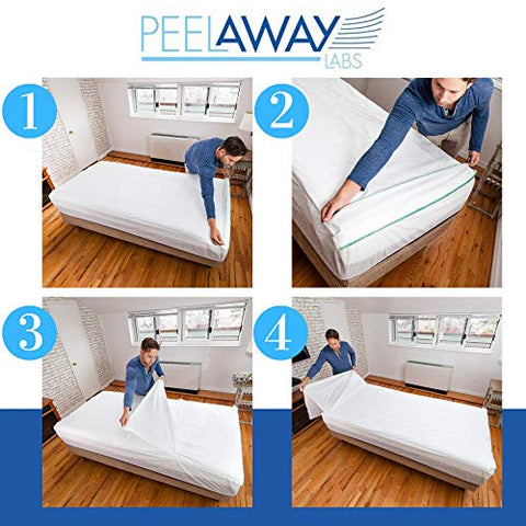 PEELAWAYS Disposable Sheets Mattress Protector  Full/Double Size Fitted Cover  Waterproof Bed Pad for Incontinence, Bedwetting, Kids, Teens  Maximum Coverage, 5 Layers, Soft Comfort Bamboo Blend