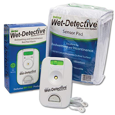 Wet Detective Bedwetting Kit, Incontinence & Bedwetting Alarm System, Includes 1 Sensor Pad