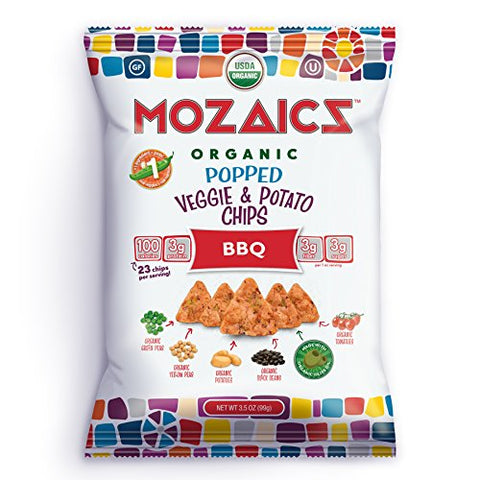 Mozaics - Popped Veggie and Potato Chips - BBQ - Case of 12-3.5 Oz.