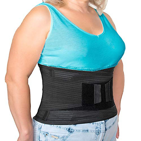 AVESTON Lower Back Brace with Lumbar Pad Support 37-45 at Belly Waist Line