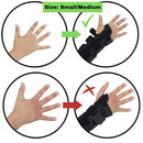 Image of Wrist Brace Pair, Two (2), Small/Medium, Carpal Tunnel, Right and Left Carpel Wrist Support, Forearm Splint Band, 3 Straps Adjustable, Breathable for Sports, Sprains, Arthritis and Tendinitis