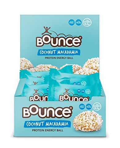 Bounce Coconut and Macadamia Protein Bliss Energy Balls 40 g (Pack of 6)