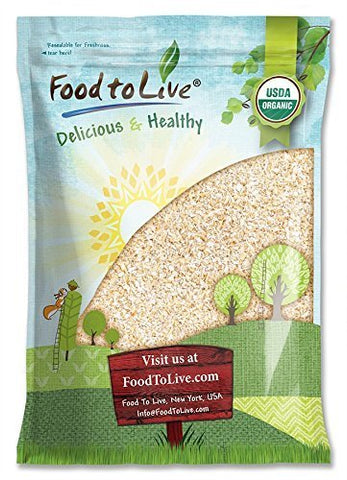 Organic Oat Bran, 10 Pounds - Non-GMO, Kosher, Raw, Vegan, Bulk, High Fiber Hot Cereal, Milled from High Protein Oats, Product of The USA