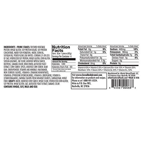 Loma Linda - Plant-Based - Prime Stakes (13 oz.) (Pack of 6) - Kosher