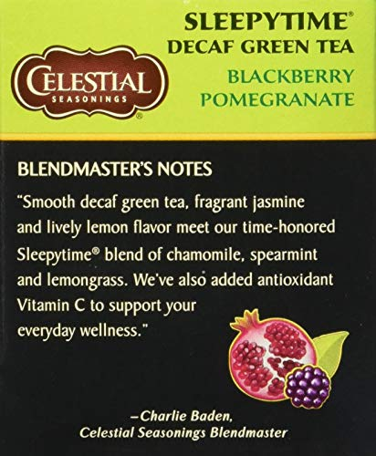 Celestial Seasonings Green Tea, Sleepytime Decaf Blackberry Pomegranate, 20 Count