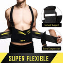 Image of Cfr Back Brace Working Support With Suspenders Adjustable Straps Belt Lower Waist Therapy Pain Relie