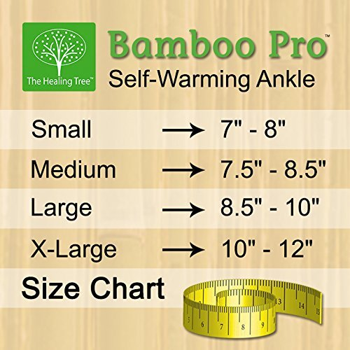 Bamboo Pro Self-Warming Ankle Support (Medium)