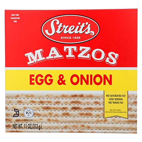 Streits Matzo Egg Onion 11 Oz -Pack of 12