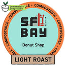 Image of SF Bay Coffee Donut Shop 120 Ct Medium Roast Compostable Coffee Pods, K Cup Compatible including Keurig 2.0 (Packaging May Vary)