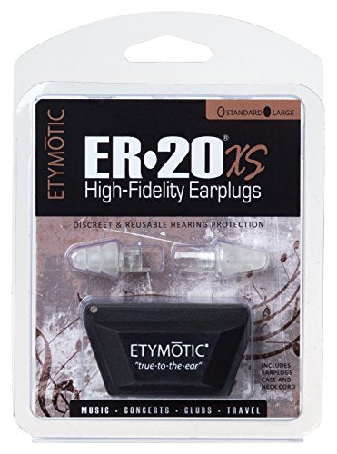 Etymotic Research Er20 Xs High Fidelity Earplugs (Concerts, Musicians, Airplanes, Motorcycles, Sensit