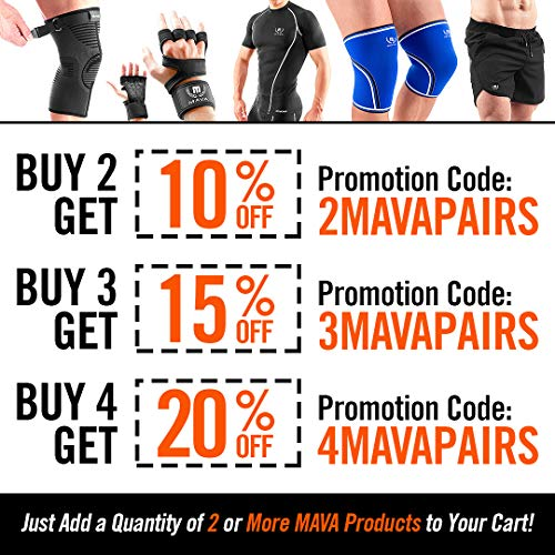 Mava Sports Knee Compression Sleeve Support For Men And Women With Perfect 7mm Neoprene Material For