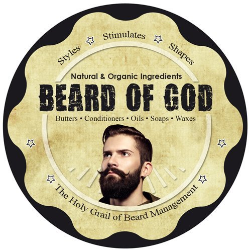 Chocolate - 2.5oz Beard Butter Conditioner & Sack - Natural, Organic, Vegan, Hand-Crafted