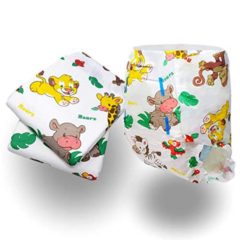 Rearz - Safari - Adult Diaper (Sample 2 Pack) (Small, 27'' - 36'')