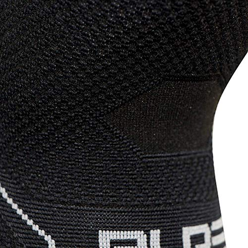 Compression Knee Support Sleeve - Relieve Knee Pain, Recovery Sleeve for Men and Women - Great for Running, Weight Lifting, Sports (Small, Black)