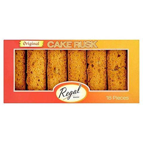 Regal Bakery Cake Rusk - Original - 18 pieces - (pack of 3)