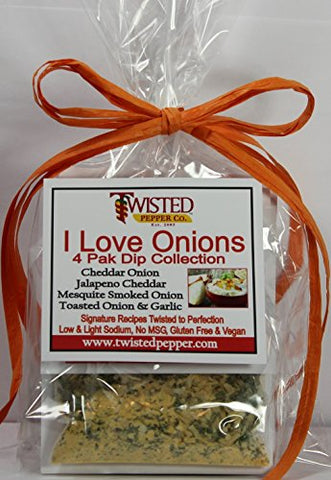 Twisted Pepper Dip Mix Variety 4 Pack - I Love Onions
