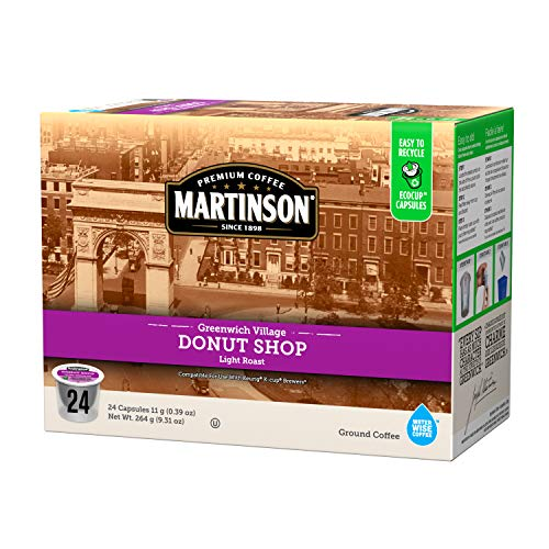 Martinson Single Serve Coffee Capsules, Donut Shop, Compatible with Keurig K-Cup Brewers, 24 Count
