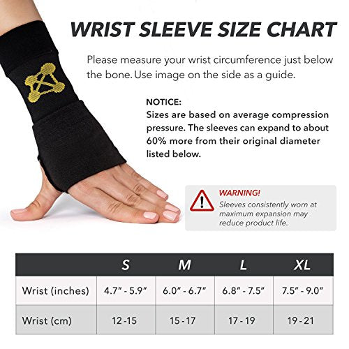 CopperJoint Compression Wrist Sleeve, Left (XL)