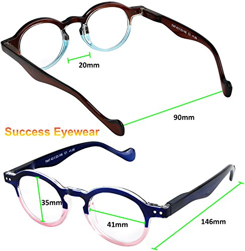 Reading Glasses 3 Pairs Fashion Springe Hinge Readers Glasses for Reading Men and Women +1.75