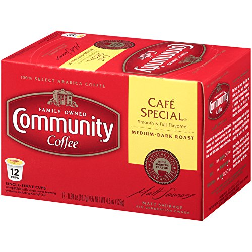 Community Coffee Cafã© Special Medium Dark Roast Single Serve K Cup Compatible Coffee Pods, Box Of 1