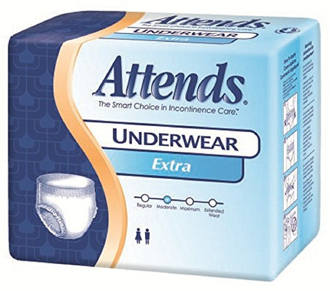 Attends - Adult Absorbent Underwear Attends - Pull On Medium Disposable Moderate Absorbency - 25/Package - McK