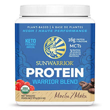 Sunwarrior Warrior Blend, Organic Vegan Protein Powder with BCAAs and Pea Protein: Dairy Free, Gluten Free, Soy Free, Non- GMO, Unsweetened Protein Powder, and Keto Friendly, Vegetarian (Mocha 375g)