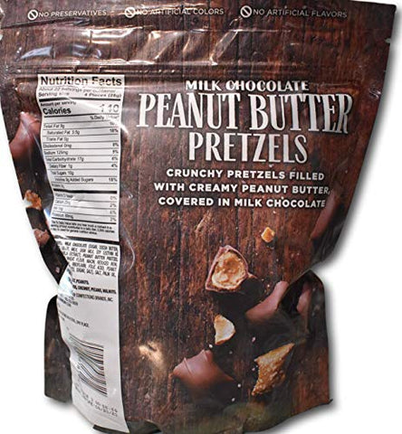 Harry London Gourmet Milk Chocolate Peanut Butter Pretzels- Crunchy Pretzels Filled with Creamy Peanut Butter and Covered in Milk Chocolate