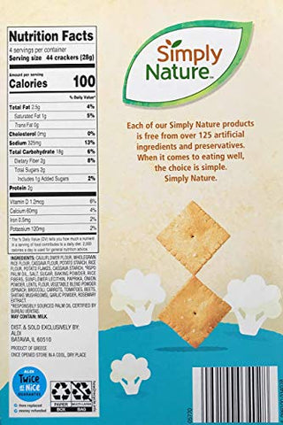 Simply Nature Cauliflower Crackers Sea Salt
