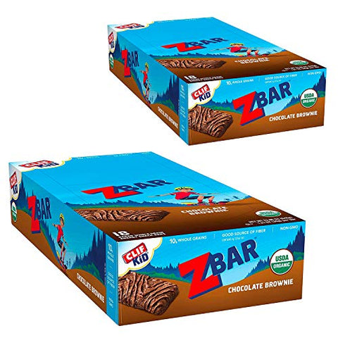 CLIF KID ZBAR - Organic Granola Bars - Chocolate Brownie - Non-GMO - Organic -Lunch Box Snacks (1.27 Ounce Energy Bars, 36 Count)