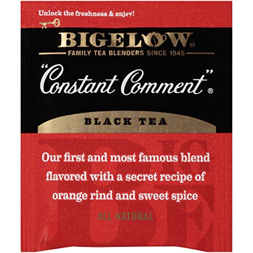 Bigelow Constant Comment Black Tea Bags 20 Count Box (Pack Of 6),  Caffeinated Black Tea Bags, 120 T